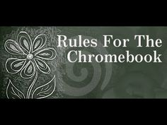 Students! Treat Your Chromebook with Respect! - YouTube