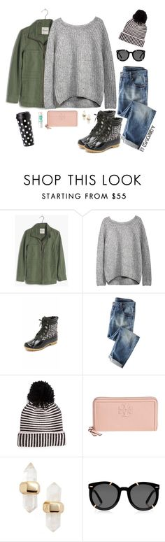 """Hello Winter..."" by eebruchmiller ❤ liked on Polyvore featuring Madewell, Sam Edelman, Wrap, Kate Spade, Tory Burch, Kendra Scott, Maybelline, Karen Walker, women's clothing and women"
