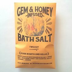 Twilight Bath Salt Quartz Charged and Honey Infused #vegangifts #vegangiftsforher #veganbathbody #lavenderfields
