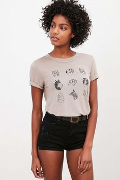 Truly Madly Deeply Dog Breeds Tee - Urban Outfitters