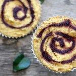 Blackberry Swirl Cornbread #glutenfree