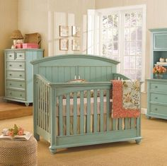 LOVE this color for baby room furniture
