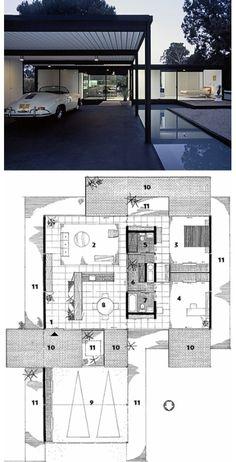 Bailey House : Case Study House No. 21, Los Angeles CA (1956-58)   Pierre Koenig