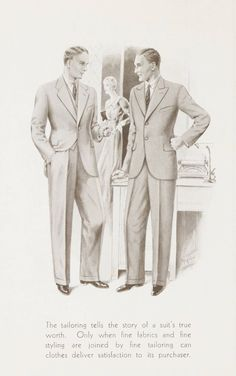 W. J. Mahon's catalogs for men's fashions (1935). 1935. Metropolitan Museum of Art (New York, N.Y.). Thomas J. Watson Library. Trade Catalogs W. J. Mahon's Catalogs for Men's Fashions. #classymen # #customsuits | Style does matter.