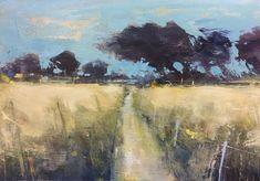 Summer Fields near Tremenheere. 22 x 30cm. Oil on board