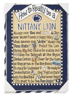 Penn State How To Really Be Small Canvas | Souvenirs > HOME > SIGNS