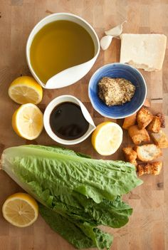 A CUP OF JO: The Best Caesar Salad Dressing! This is the Caesar dressing recipe I've been looking for! Salad Bar, Soup And Salad, Salad Bowls, Cesar Salat, Cobb, Do It Yourself Food, Cooking Recipes, Healthy Recipes, Kitchen Recipes
