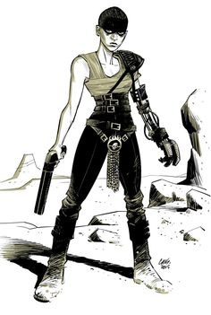 "Cameron Stewart on Twitter: ""Imperator Furiosa warmup drawing http://t.co/kjtxBmct91"""
