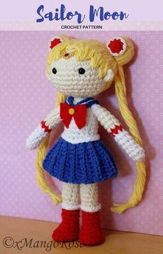 Sailor Moon Plush Amigurumi Doll (Crochet Pattern Only, Digital Download), Senshi, Usagi Tsukino, Anime Gift, Gift Ideas, Crochet Doll #ad #sailormoon