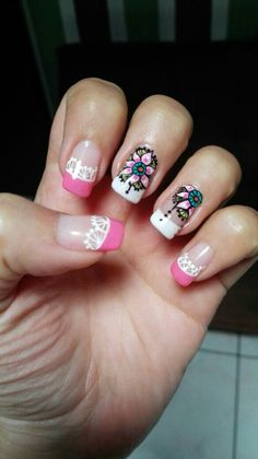 Bellas mandalas! :-) Beauty Nails, Hair Beauty, Manicure And Pedicure, Toe Nails, Hair Hacks, Hair And Nails, Finger, Nail Designs, Lily