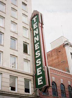 Tennessee Theatre's iconic sign in Knoxville. Photo Credit: Tec Petaja.