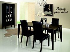 Simple chic dining room