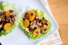 Orange, Pomegranate and Walnut Lettuce Wraps…RECIPE
