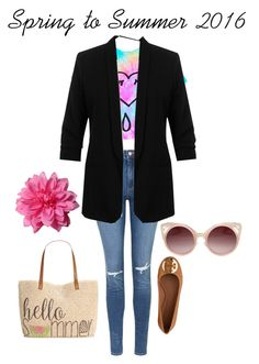 """""""Spring to Summer 2016"""" by seana-routzahn on Polyvore featuring Topshop, Miss Selfridge, Tory Burch, Style & Co., WithChic, women's clothing, women, female, woman and misses"""
