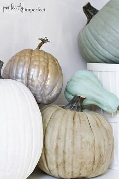 ❤️Annie Sloan paint and wax, love the look.❤️ Fall Crafts: How to Paint Pretty Pumpkins | perfectly imperfect