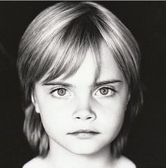 Baby Cara...she still has better eyebrows then anyone. I think she look like Wensday Adams