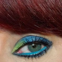 kats colourings: EOTD: Sleek Acid Yellow and Blue...