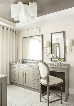 vanity with both sink & prep, wave flush mount fixture, ceiling detail