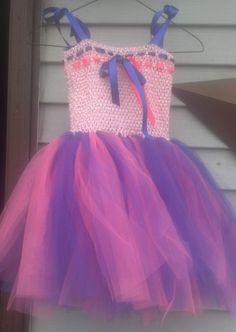 Pink and purple tutu dress and headband set. by Paquiscreations, $35.00
