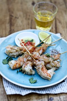Crispy Sichuan salt and pepper shrimp with hot and sour dipping sauce