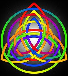 Blank version available to color or use for embroidery. Triple trinity knot or triquetra.