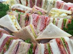 A platter of Sandwiches for four people or multiples of four. If you wish to stipulate the selection of sandwiches exactly, please do so in Customer Notes Baguette Sandwich, Sandwich Platter, Sandwich Fillers, Steak Dinner Sides, Sandwiches, Types Of Bread, Recipe Of The Day, Homecoming Spirit, Gourmet