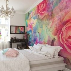 Image of Brewster Home Fashions Memories Wall Mural My New Room, My Room, Memory Wand, Decoration Shabby, Wall Wallpaper, Photo Wallpaper, Girls Bedroom Wallpaper, Flowery Wallpaper, Feature Wallpaper