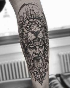 ไม่มีคำอธิบายรูปภาพ Tattoos 3d, Full Leg Tattoos, Lion Head Tattoos, Black Ink Tattoos, Full Sleeve Tattoos, Tattoo Sleeve Designs, Forearm Tattoos, Body Art Tattoos, Hand Tattoos