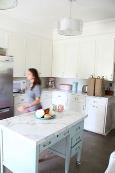 My Old Country House and the Formica® 180fx® laminate Calacatta Marble kitchen redesign and renovation.
