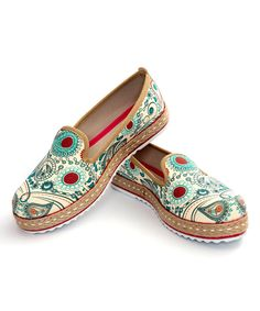 Look at this Aqua Paisley Medallions Slip-On Shoe on #zulily today!