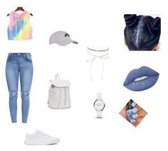 """""""Embrace the rainbow❤️🌈"""" by rondiabaddu on Polyvore featuring Vans, Aéropostale, Topshop, nOir, FOSSIL and Lime Crime"""