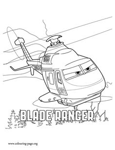 Blade Ranger is a fire-and-rescue helicopter and a character from the upcoming Planes: Fire and Rescue movie. Have fun with this free and printable Planes 2 coloring sheet!