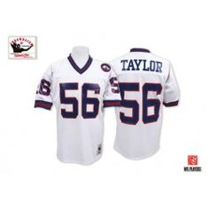 29bf843cd NFL Mitchell and Ness New York Giants Lawrence Taylor White Replica  Throwback Jersey