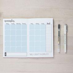 Cool blue for November's printable planner ❄️ #diy #crafts #plannerlove #printables #handmade #makersgonnamake #organization #notebook