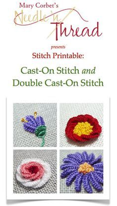 Cast-On Stitch and Double Cast-On Stitch - love this site, mary corbet