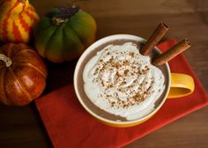 Pumpkin Spice Lattes! Ingredients:1 c. coffee 1/3 c. unsweetened almond milk (plain or vanilla) 1-2 tbsp. maple syrup 1 tsp. pumpkin pie spice  Directions: Brew coffee and pour into a mug. Add almond milk. Stir in 1 tbsp maple syrup and pumpkin pie spice.