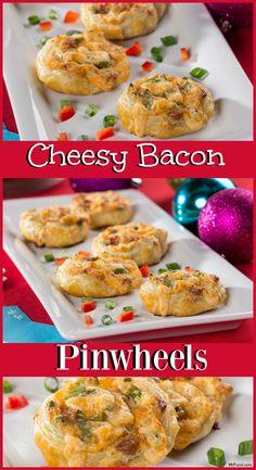 cheesy bacon pinwheels