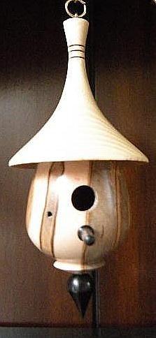 wood turned birdhouses