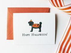 Pug Halloween Card