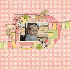 """Layout using """"Blooming"""" by Down This Road Designs"""