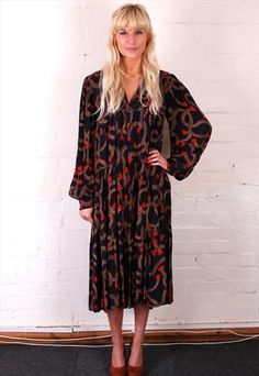 VINTAGE 1970S OSSIE CLARK FOR RADLEY DRESS (13189) #EasyPin