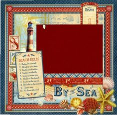 By The Sea  Beach Rules  Premade Scrapbook by SusansScrapbookShack