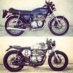#before #after #moto #motorcycle #riders #caferacer #brat #custom #cb #400 #special #super #sport #prima #dopo #ss #1977 #hondacaferacer #hondacaferacers #bratcafe