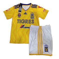 3e0e1e257cc 18-19 Tigres UANL Home Yellow Children's Jersey Kit(Shirt+Short). Elmont  Youth Soccer