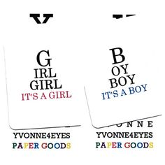 Birth Announcement Customized Eye Chart Cards Pack by Yvonne4eyes, $22.50
