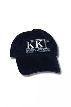 e959f6da Add a classic Kappa Kappa Gamma Hat in Navy cotten-twill to your collection  of sorority clothing and Greek accessories. Shop now at the Kappa Kappa  Gamma ...