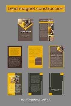 Diseño de ebook lead magnet para empresa de construcción, 8+ páginas. Lead Magnet, Lorem Ipsum, Cover Design, Social Networks