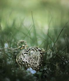 vintage silver heart