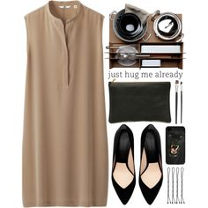 A fashion look from September 2013 featuring Uniqlo dresses, Zara pumps and American Apparel clutches. Browse and shop related looks.