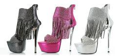 Venus - 6 Inch Rhinestone Fringed Boot. Colors: Fuchsia, Pewter and Silver.  http://www.sensualsurprises.com/607-VENUS